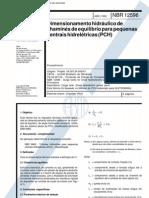 NBR 12596 Nb 1414 - Dimension Amen To Hidraulico de Chamines de Equilibrio Para Pequenas Centrais Hidreletricas (Pch)