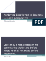 Achieving Excellence in Business