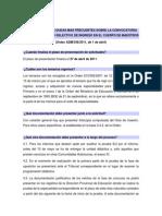 RESPUESTAS A LAS DUDAS MÁS FRECUENTES SOBRE LA CONVOCATORIA DE oposiciones 2011