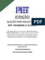 cartaz de seleção do pet
