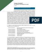 Performance Standard 3 - Effective January 1, 2012