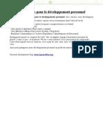 Programme pour le développement personnel