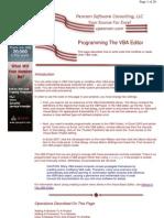 Programming the VBA Editor