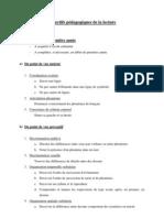 Objectifs Pedagogiques de La Lecture