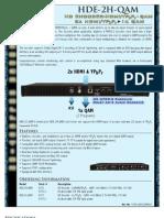 Blonder Tongue HDE-2H-QAM Spec Sheet