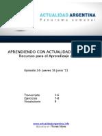 Aprendiendo Con Actualidad Argentina - Episodio 28