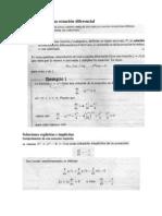 Solución de una ecuación diferencial