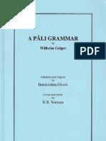 A Pali Grammar - Geiger