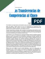 Sobre Las Transferencias de Competencias
