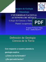 Principios de Geología y Mineralogía