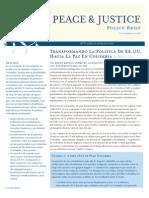 Transformando la Politica de EE.UU. Hacia la Paz en Colombia