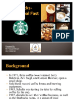 Starbucks Going Global Fast
