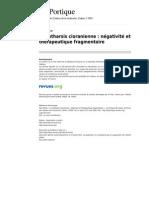 Leportique 764 La Catharsis Cioranienne Negativite Et Therapeutique Fragment a Ire
