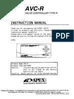 AVC R Manual