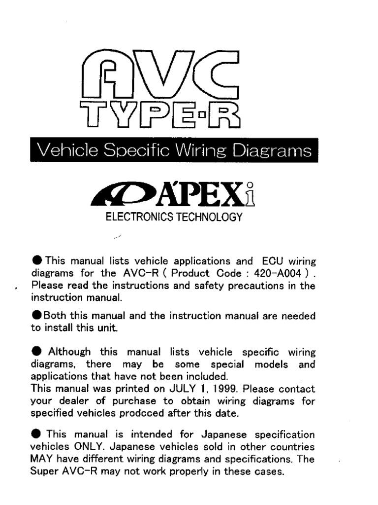 Avcr Wiring Diagram: Avc-r Manual Wiring Gen1rh:scribd.com,Design
