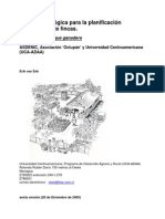 Guía metodológica para la planificación participativa de fincas.
