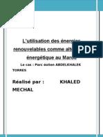 energie renouvelables maroc