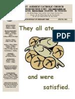 July 31, 2011 Bulletin