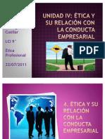 Unidad IV Etica y Su Relacion Con La Conducta rial