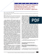 The Architecture of the Connective Tissue in the Musculoskeletal System - An Often Overlooked Functional Parameter as to Proprioception in the Locomotor Apparatus f