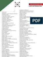 Lista Completa de Productos