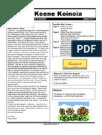 Church Newsletter- August 2011