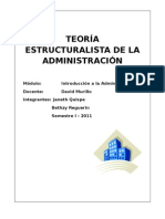 Teoria Estructuralista de La Admin is Trac Ion Final 24.05
