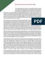 Freud - Algunas consecuencias psíquicas de la diferencia sexual anatómica