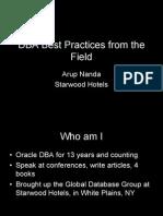 200710 Nanda DBA Best Practices
