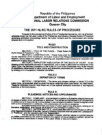 2011 NLRC Rules and Procedure