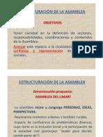 ESTRUCTURACIÓN DE LA ASAMBLEA