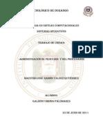 Administración de Procesos  y del Procesador