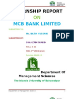 MCB BANK 2011 Islamia Univeristy of Bahawalpur