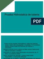 Prueba Hidrostatica de Tuberia