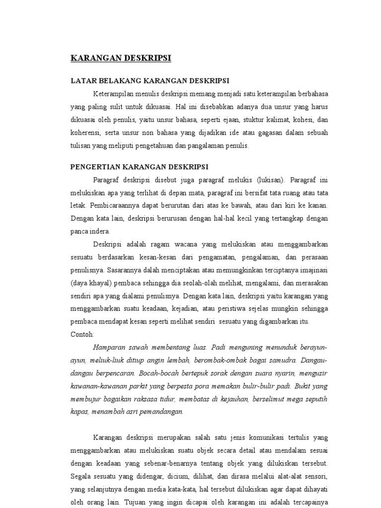 Karangan Deskripsi Kelompaok Bi Yang Print