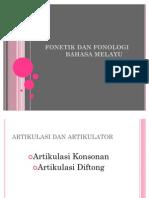 Artikulasi Konsonan Dan Diftong Bahasa Melayu