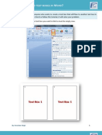 How to Create Linked Text Boxes in Word 2007