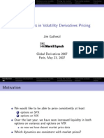 Vol Derivatives 2007