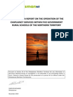 Investigation Report on the Operation of the Chaplaincy Services Within 5 Govt Rural Schools of the Nt