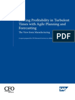 Driving Profitability in Turbulent Times With Agile Planning and Forecasting the View From Manufacturing
