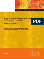 Socio-Economic Differences in Health,Nutrition, and Population - MADAGASCAR (World Bank- 2007)