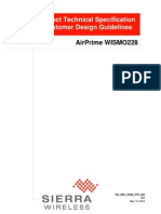 AirPrime WISMO228 Product Technical Specification and Customer Design Guidelines r5
