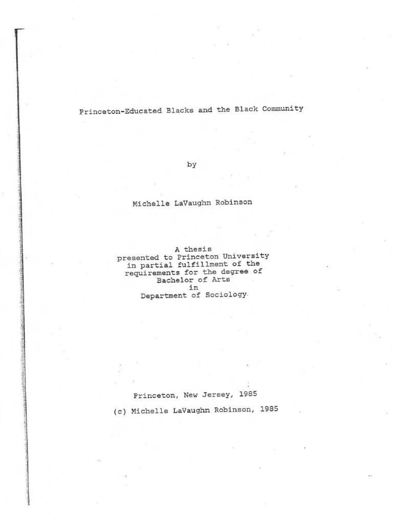 michelle lavaughn robinson princeton thesis