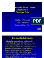Economics of Climate Change Adaptation in Northeast Asia