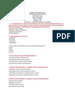 Model Question Paper Bc