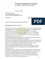 Installation und Betrieb eines Bürgerportals (Information und Diskussion)