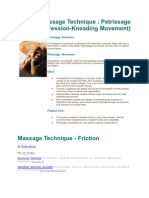 Massage Technique Petrissage