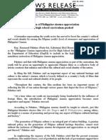 July 25.2011_Inclusion of Philippine Cinema Appreciation