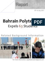 REPORT - Related Background Information on the Expulsion of the Students