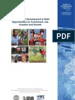 WEF Haiti Private Sector Development Report 2011